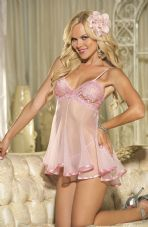 Pink Lace and Net Babydoll.